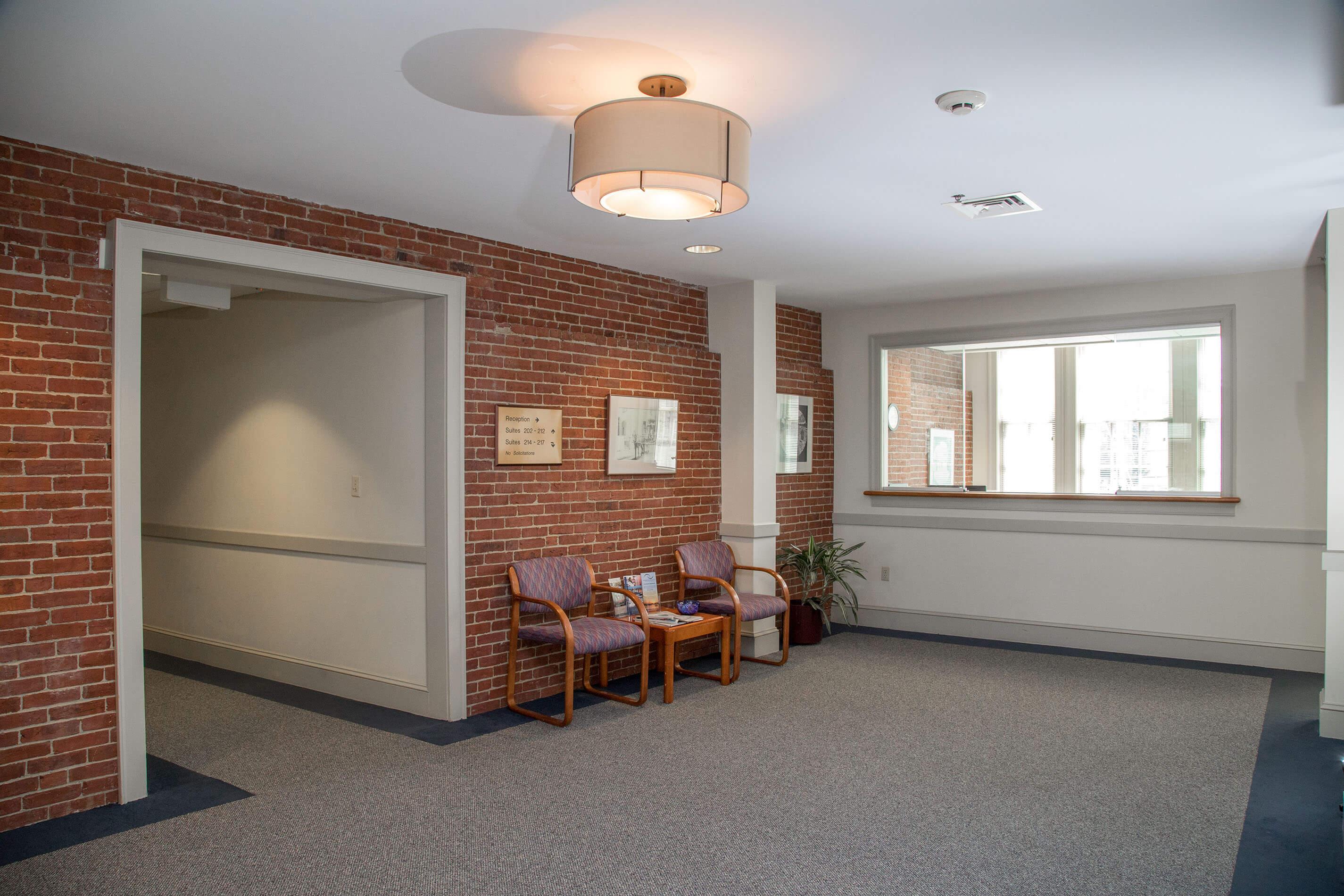 brick office wall