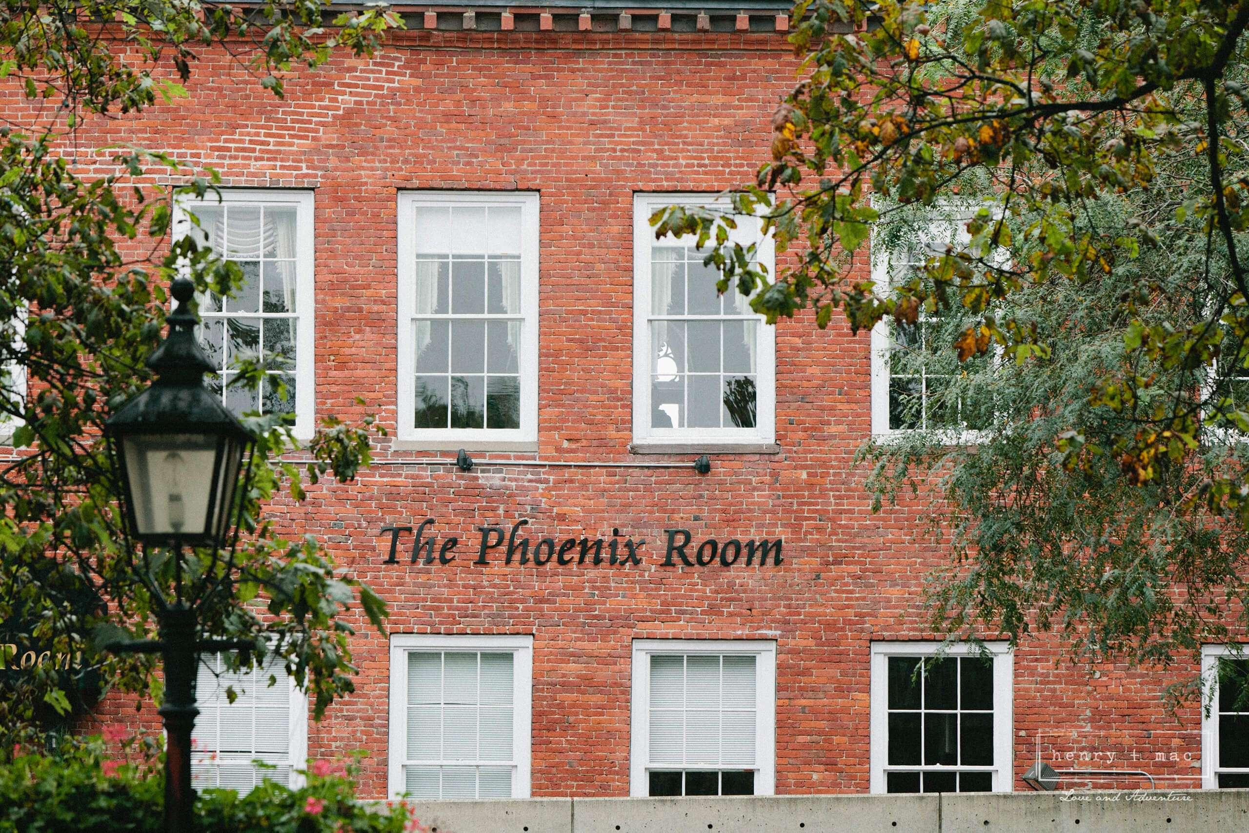 Phoenix Room exterior signs
